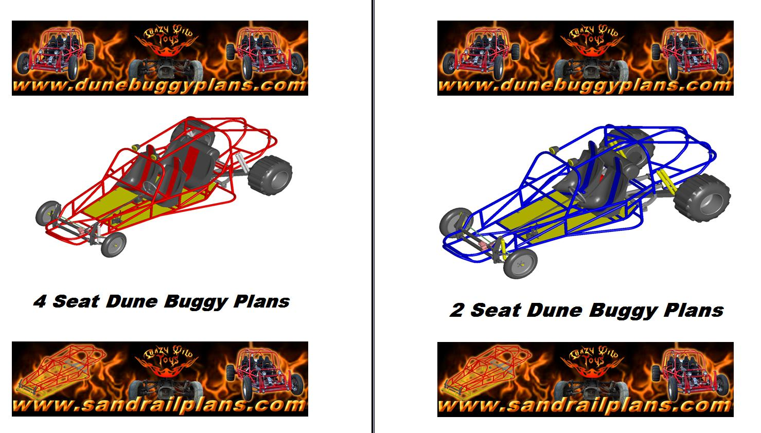 2 Great Options ! 2 Seat Dune Buggy Plans Or 4 Seat Dune Buggy Plans ...